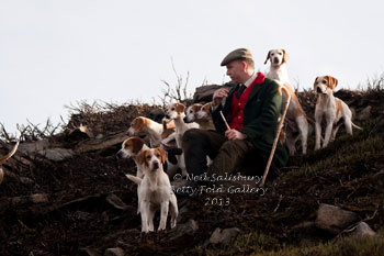 Huntsman and Beagles by Betty Fold Gallery