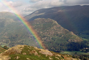 Rainbow Helm Crag Lakeland Images by Betty Fold Gallery