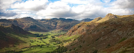 Langdale Autumn Panorama by Betty Fold Gallery